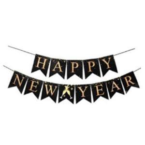 ธงปีใหม่ ธงHAPPY NEW YEAR ใช้ตกแต่งงานปาร์ตี้ปีใหม่