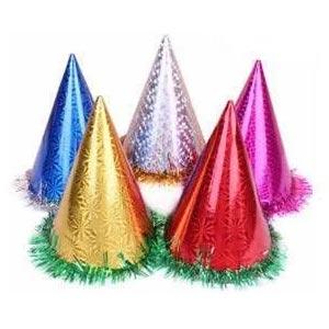 หมวกปีใหม่ แพ็ค 6 ชิ้น สูงกลาง