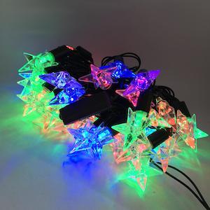 ไฟประดับตกแต่งปีใหม่ ไฟกระพริบสลับสี LED รูปดาวและต้นคริสมาส
