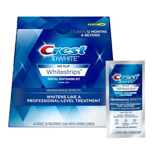 Crest Professional Effects แผ่นฟอกฟันขาว