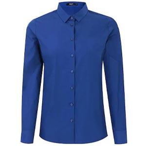 เสื้อเชิ้ต G2000 Blue Color Cotton Poplin Shirt (Slim Fit)