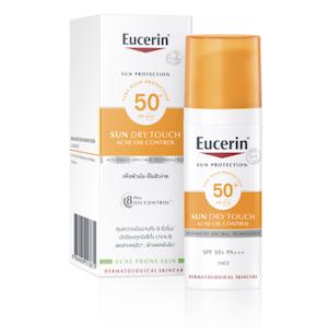 Eucerin Sun Dry Touch Acne Oil Control Face SPF50+ ครีมกันแดดเนื้อบางเบา สำหรับผิวมันเป็นสิวง่าย