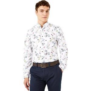 Marks & Spencer เสื้อเชิ้ตลำลอง Slim Fit ลาย Floral รุ่น T254904S