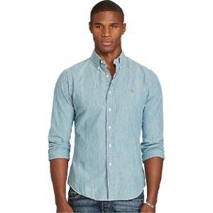 เสื้อเชิ้ต Polo Ralph Lauren Slim Fit Chambray Shirt CHAMBRAY